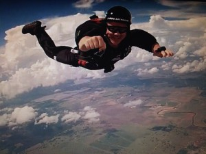 skydive fist